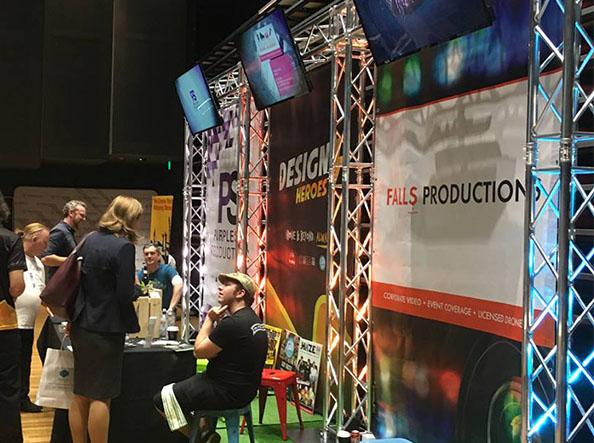 Trade-show-truss-tv-display